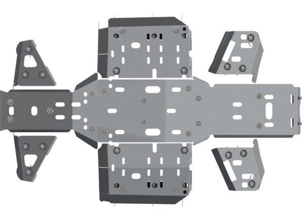 Защита днища (алюминий) X8 BL