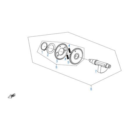 Балансировочный вал двигателя 172MM-2A
