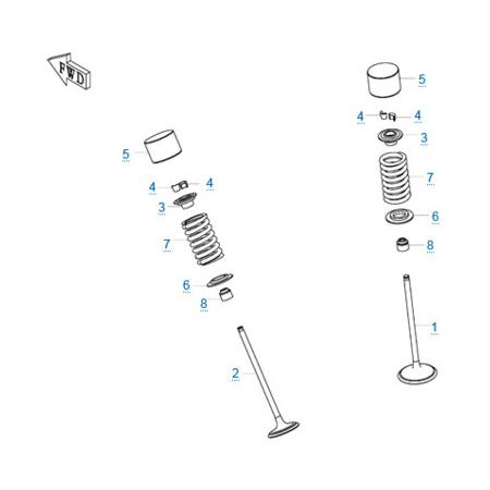 Детали клапанного механизма двигателя 283MT