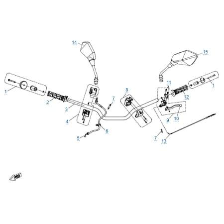 Детали руля для CFMOTO 250 NK (ABS)