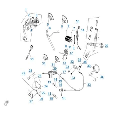 Электрическая система 2 для CFMOTO 250 JETMAX