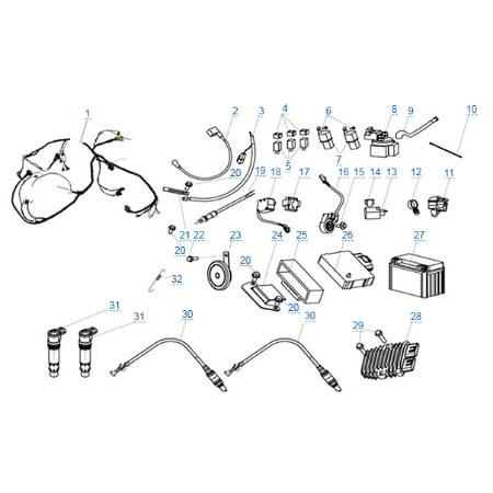Электрическая система для CFMOTO 650 TK