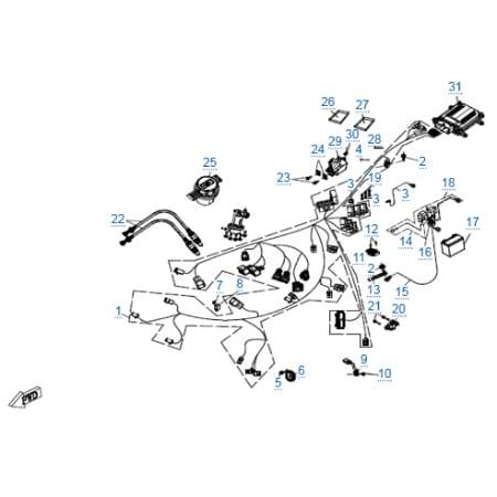 Электрическая система (abs) для CFMOTO 650 MT (ABS)