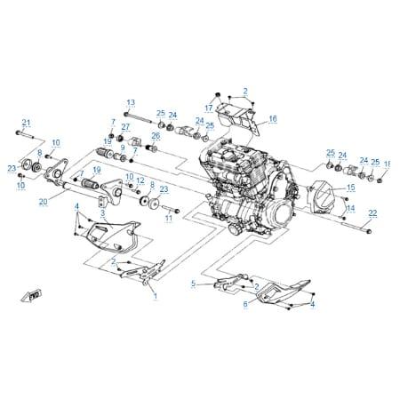 Элементы крепления двигателя для CFMOTO 650 MT (ABS)