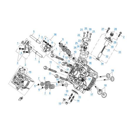 Головка цилиндра 1 v2 двигателя 2V91W-A