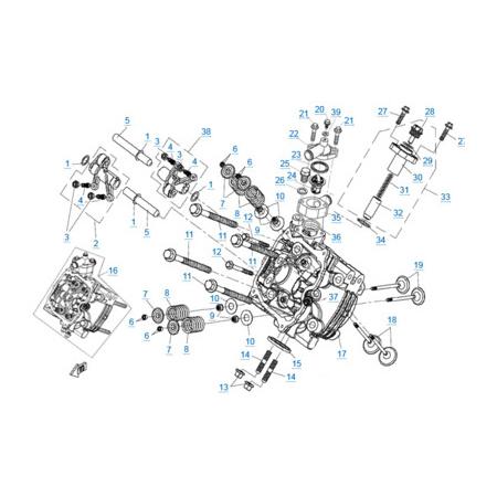 Головка цилиндра 1 двигателя 2V91W-A