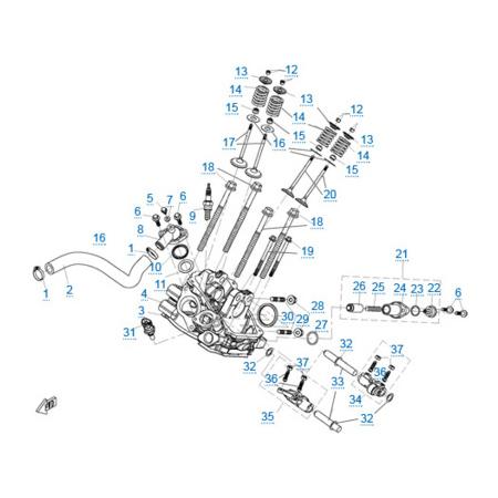 Головка цилиндра 2 двигателя 2V91W