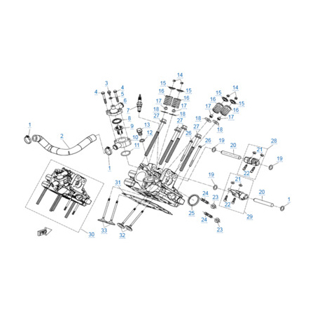 Головка цилиндра 2 двигателя 2V91Y (U10)