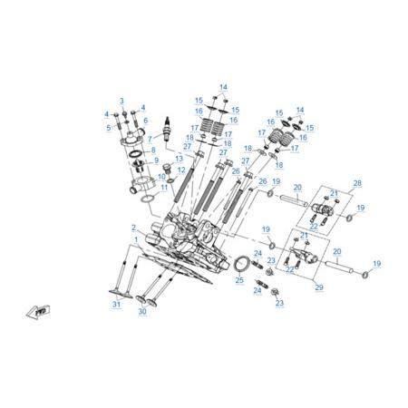 Головка цилиндра 2 двигателя 2V91Y