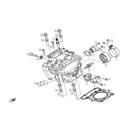 Головка цилиндра двигателя 172MM-2A