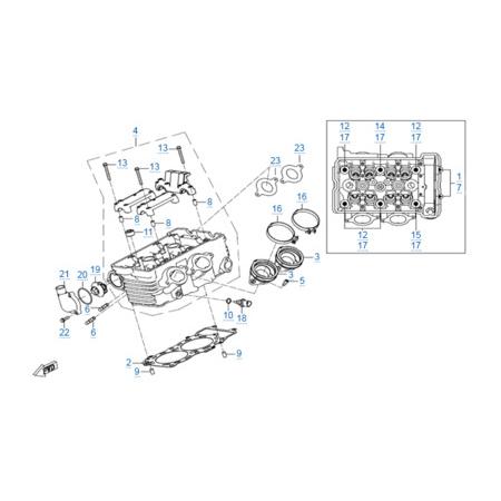 Головка цилиндров двигателя 268MQ