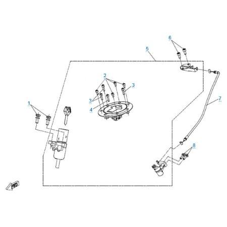 Комплект замков для CFMOTO 150 NK