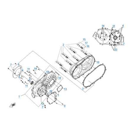 Корпус вариатора двигателя 191Q