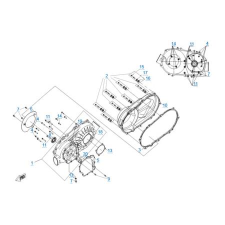 Корпус вариатора двигателя 191R(A)