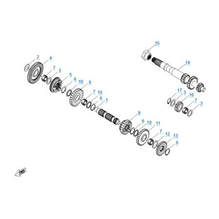 КПП 1 двигателя 191Q