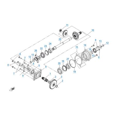 КПП 2 V2 двигателя 191Q