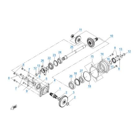 КПП 2 двигателя 191R(A)