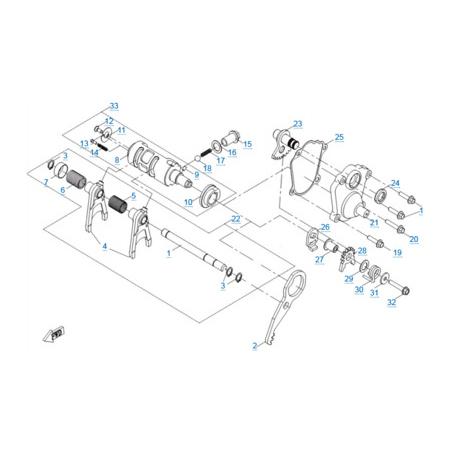 КПП 3 двигателя 191R(A)