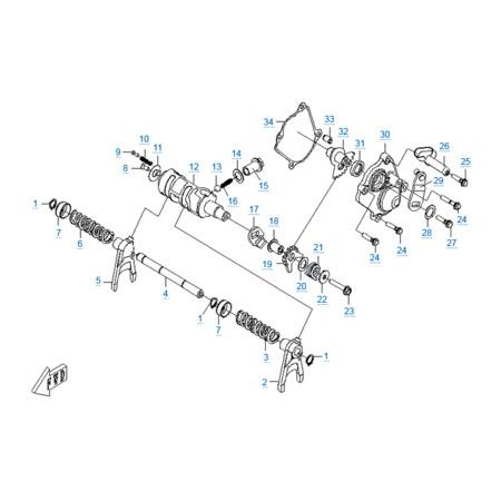 КПП 3 двигателя 196S-C