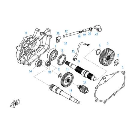 КПП двигателя 1P72MM-A(A1)
