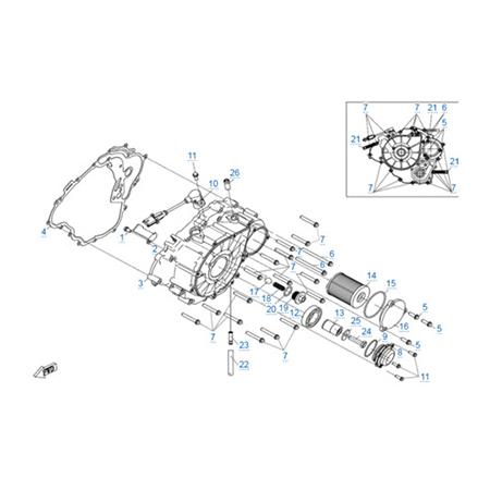 Крышка картера v2 двигателя 191Q