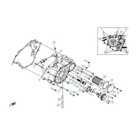 Крышка картера двигателя 191Q