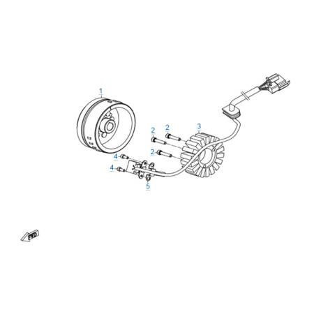Магнето в сборе двигателя 172MM-2A