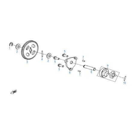 Масляный насос двигателя 172MM-2A