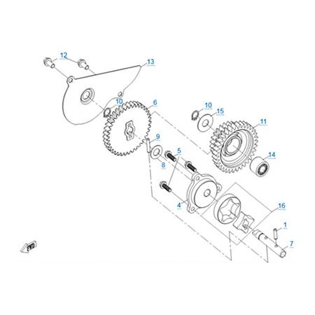 Масляный насос двигателя 191Q