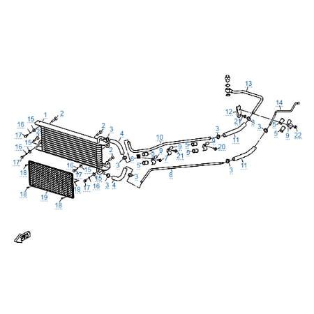 Масляный радиатор для CFMOTO X8 EFI&EPS