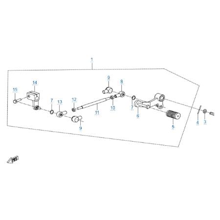 Механизм переключения передач для CFMOTO 250 NK (ABS)