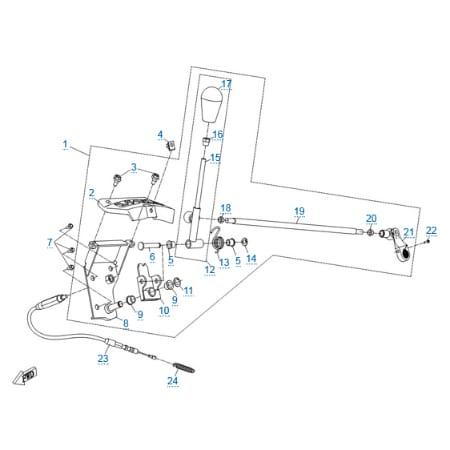 Механизм переключения передач для CFMOTO X6 EPS