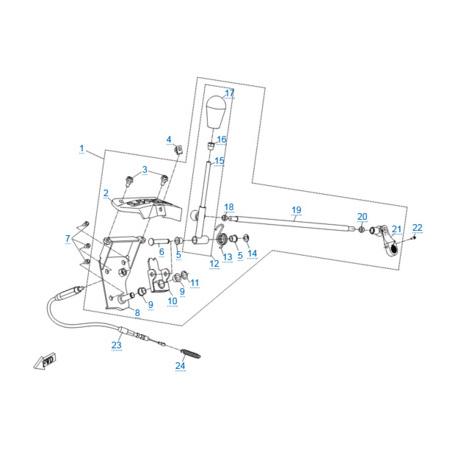 Механизм переключения передач для CFORCE 500 HO