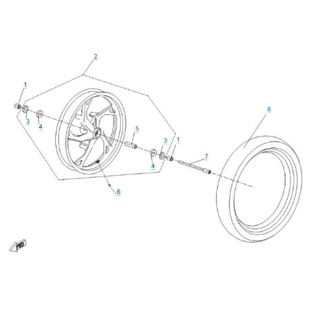Переднее колесо для CFMOTO 150 NK