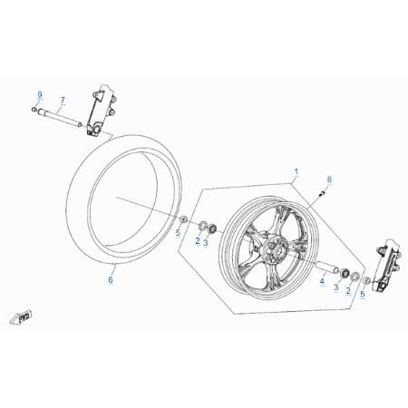 Переднее колесо для CFMOTO 400 NK (ABS)