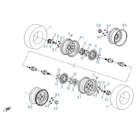 Передние колеса для CFMOTO Z10 EFI&EPS