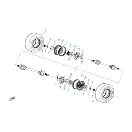 Передние колеса для CFORCE 600 EPS