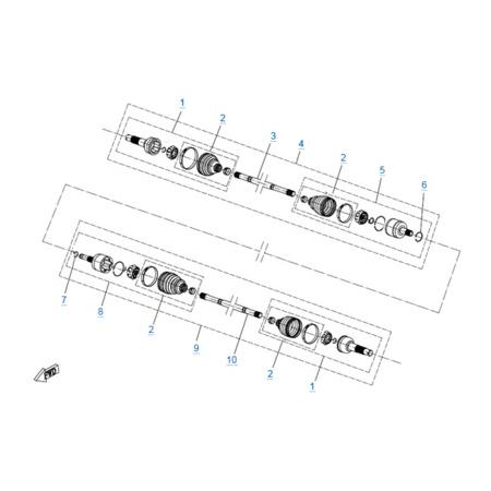 Передний привод в сборе (odm) для CFORCE 500 HO