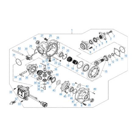 Передний редуктор для CFORCE 600 EPS