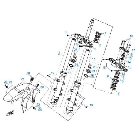 Передняя подвеска для CFMOTO 650 NK