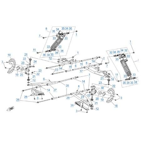 Передняя подвеска для CFMOTO Z10 EFI&EPS