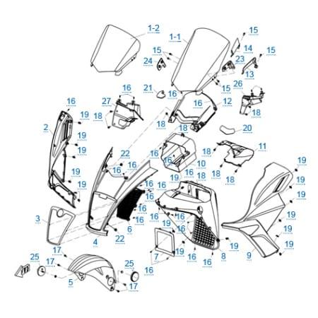 Пластиковые детали 1 для CFMOTO 250 JETMAX