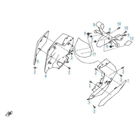 Пластиковые детали 1 для CFMOTO 250 NK (ABS)