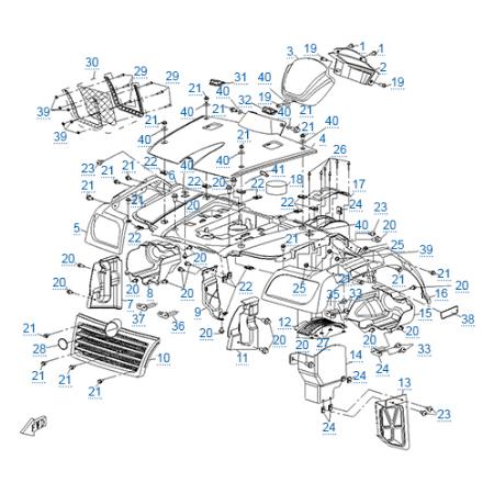 Пластиковые детали 1 для CFMOTO 500-2A