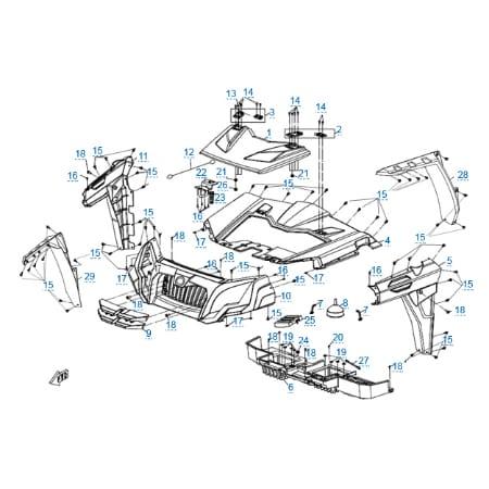 Пластиковые детали 1 для CFMOTO U8W EFI&EPS