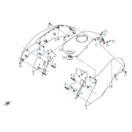 Пластиковые детали 2 для CFMOTO 250 NK (ABS)