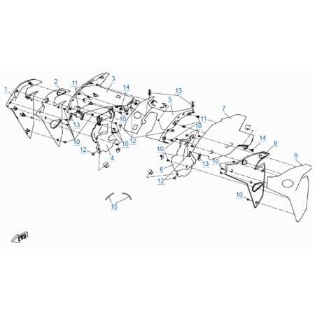 Пластиковые детали 2 для CFMOTO 400 NK (ABS)