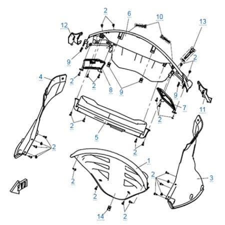 Пластиковые детали 2 для CFMOTO 650 TK