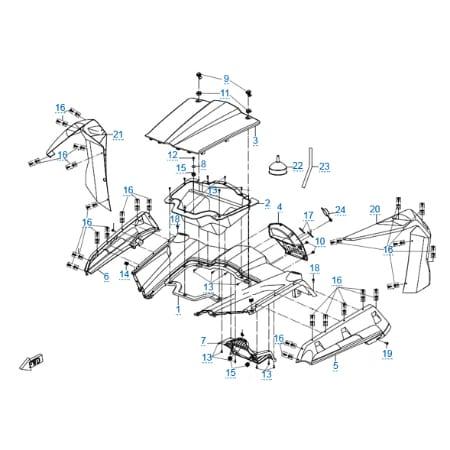 Пластиковые детали 2 для CFMOTO Z10 EFI&EPS