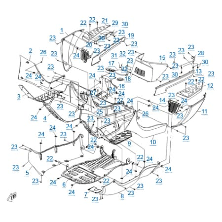 Пластиковые детали 3 для CFMOTO 250 JETMAX